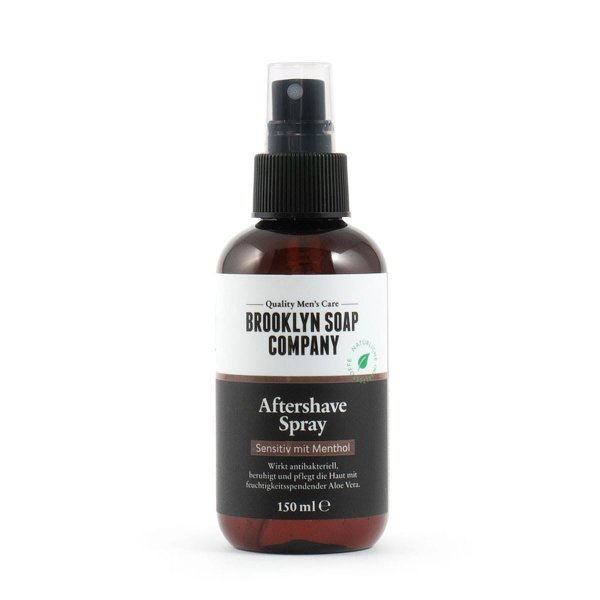 Brooklyn Soap Company After Shave Spray, After Shave Sensitiv mit Menthol 150ml