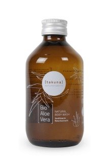 takuna Bio Aloe Vera Body Wash, Duschgel mit Bio Aloe Vera 250ml