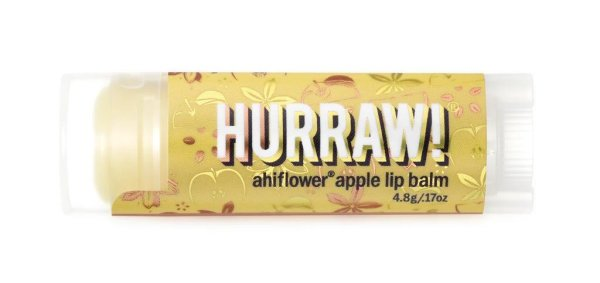 Hurraw! Ahiflower Apple lip balm, Lippenpflegestift Ahi & Apfel 4,3g