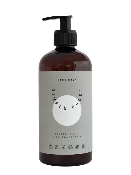 Simple Goods Hand Soap Ginger, Sage & Pink Grapefruit, Handseife 450ml