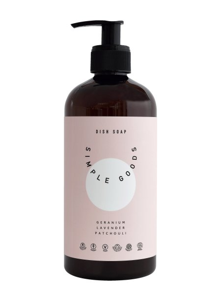 Simple Goods Dish Soap Geranium, Lavender & Patchouli, Spülmittel 450ml