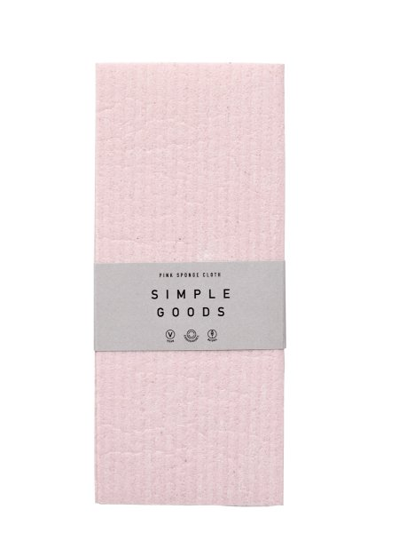 Simple Goods Sponge Cloth Pink, Spüllappen 2 Stück