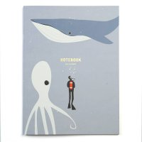 pleased to meet Dive, Whale and Octopus Notebook,...