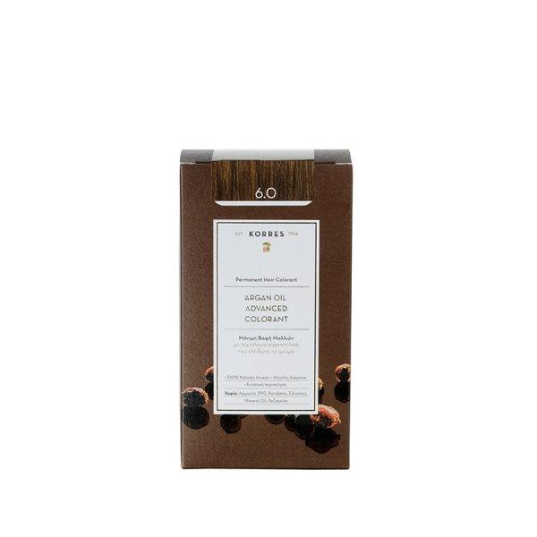 Korres Advanced Argan Oil Permanent Hair Colorant 6.0, Haarfarbe Dunkelblond
