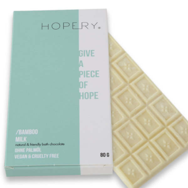 hopery bamboo milk bath chocolate, Badeschokolade 80g