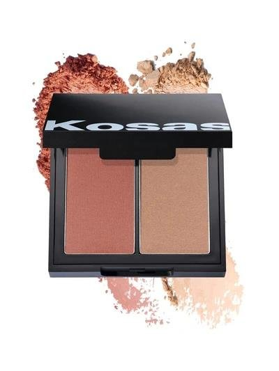 kosas color & light pressed blush and highlighter Papaya 1972 HIGH INTENSITY, Rouge & Highlighter 8g
