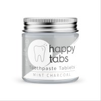 happy tabs Toothpaste Tablets Mint & Charcoal,...