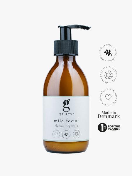 GRUMS Mild Facial Cleansing Milk, Reinigungsmilch 200ml