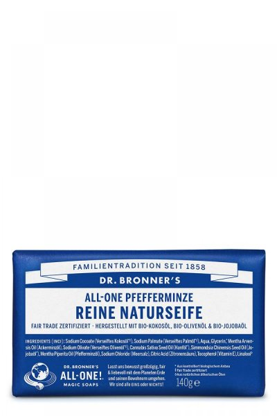 Dr. Bronners Barsoap Peppermint, Seife Pfefferminze 140g
