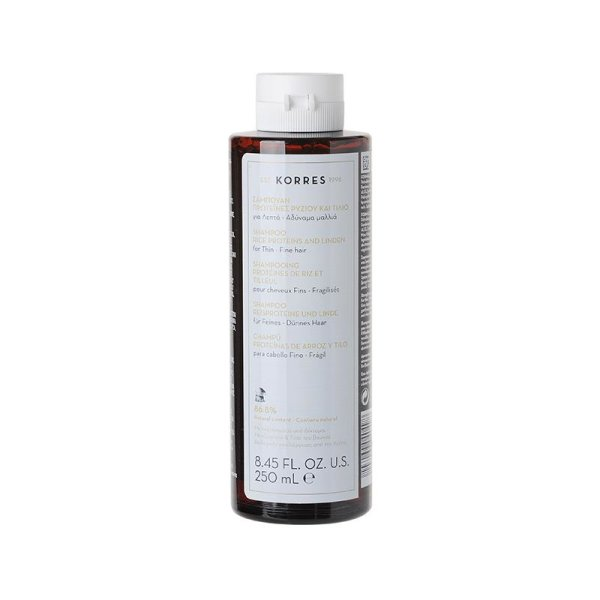 Korres Rice Proteins & Linden Shampoo, feines Haar 250ml