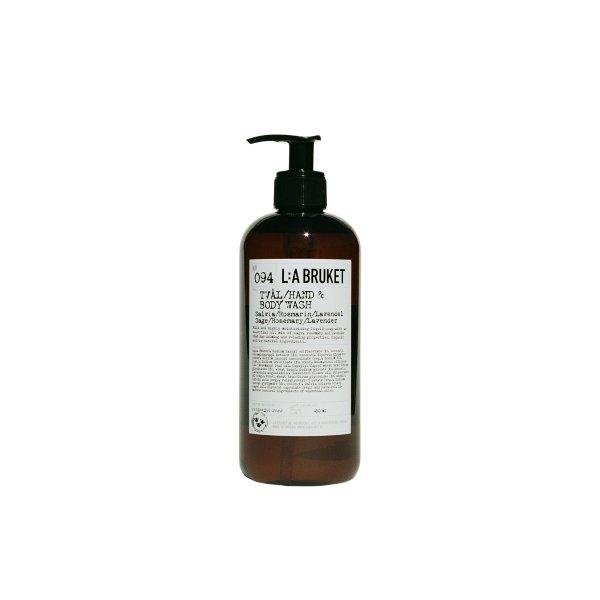 L:a Bruket No. 094 Tval/Hand & Body Wash, Hand- & Körperseife, Salbei/Rosmarin/Lavendel 450ml