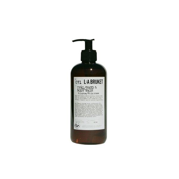 L:a Bruket No. 071 Tval/Hand & Body Wash, Hand- & Körperseife, Wildrose 450ml