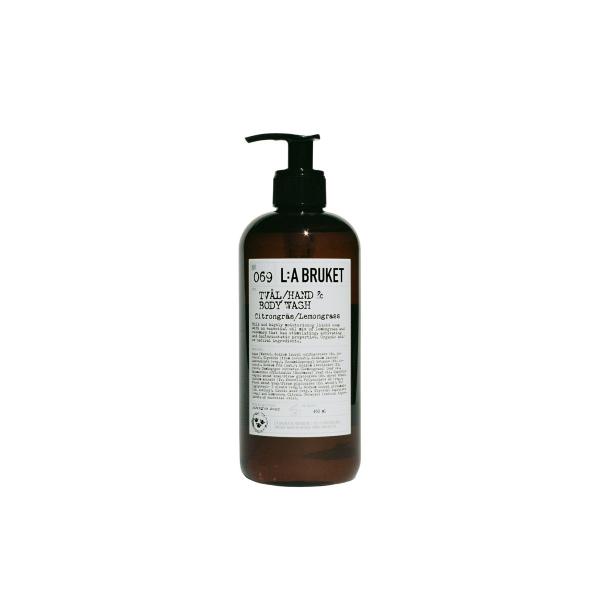 L:a Bruket No. 069 Tval/Hand & Body Wash, Hand- & Körperseife, Zitronengras 450ml