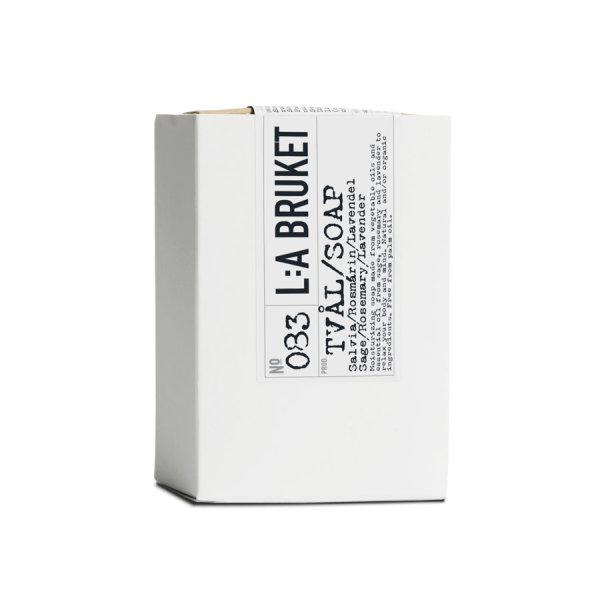 L:a Bruket No. 083 Bar Soap, Seife Salbei/Rosmarin/Lavendel 120g