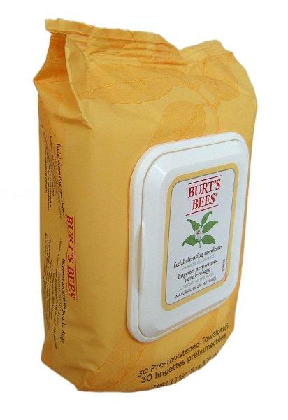 Burts Bees Facial Cleansing Towelettes White Tea, Gesichtsreinigungstücher 30 Stück