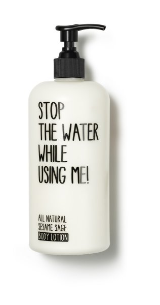stop the water while using me All Natural Sesame Sage Body Lotion, Körperlotion 200ml