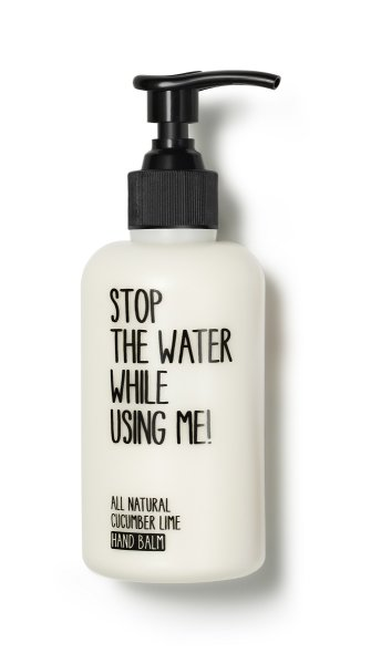 stop the water while using me All Natural Cucumber Lime Hand Balm, Handcreme 200ml