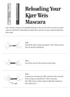 Kjaer Weis Lengthening Mascara REFILL, Mascara Schwarz 5,4g