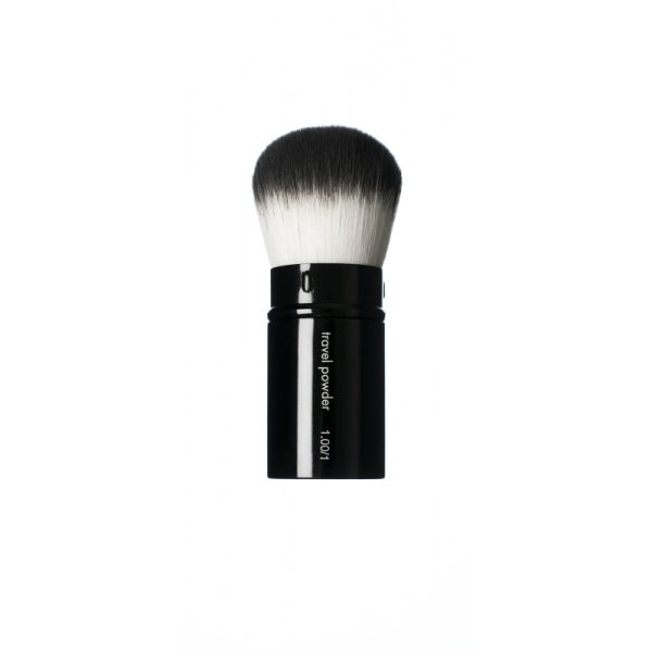 HIRO Cosmetics Travel Powder Brush #1.00/1, Kabuki Puderpinsel für die Reise 1 Stück
