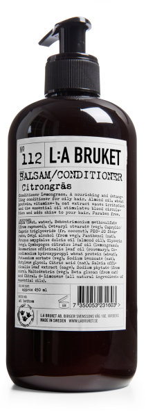 L:a Bruket No. 112 Balsam/Conditioner Citrongräs, Conditioner Lemongras GROß 450ml