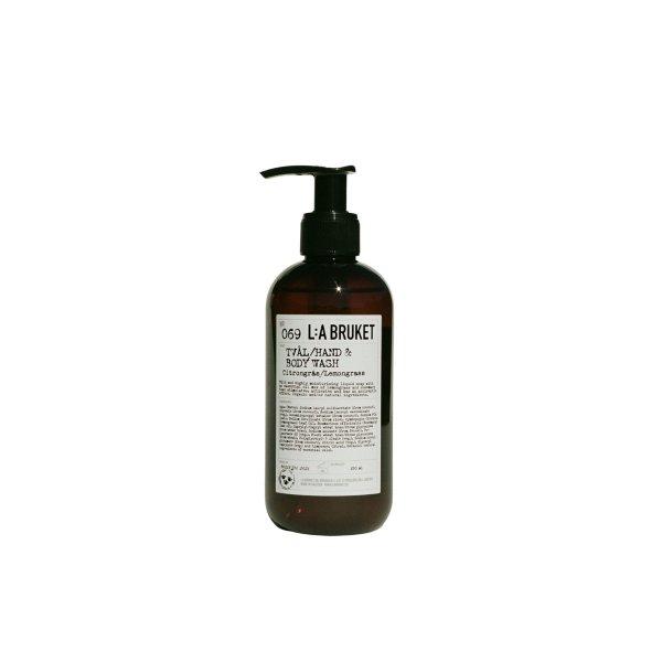 L:a Bruket No. 069 Tval/Hand & Body Wash, Hand- & Körperseife, Zitronengras 240ml