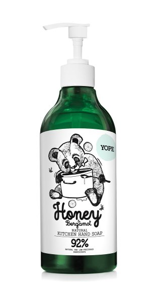 YOPE Natural Kitchen Handsoap Honey & Bergamot, Küchenseife 500ml