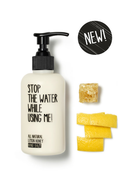 stop the water while using me All Natural Lemon Honey Hand Balm, Handcreme 200ml