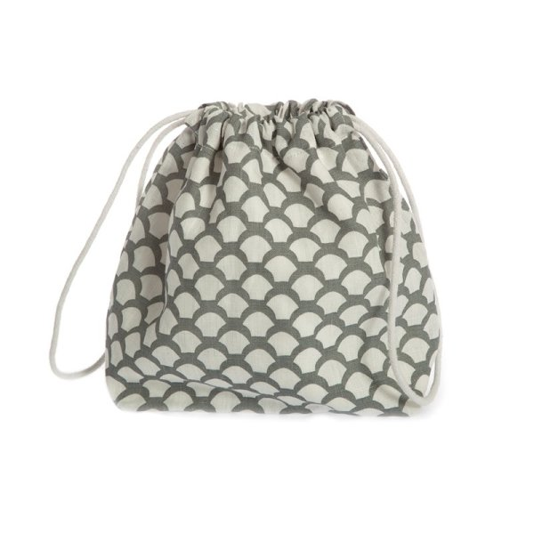 Iris Hantverk Toiletry Bag Saras Roof Natural Grey Linen, Beauty Bag Grau 1 Stück