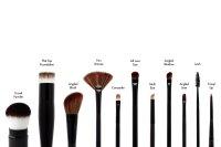 HIRO Cosmetics Angeled Eye Brush #2.20/1, Lidschattenpinsel 1 Stück