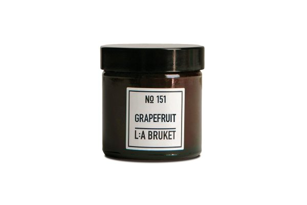 L:a Bruket No. 151 Candle Grapefruit, Duftkerze Grapefrucht TRAVEL 50g
