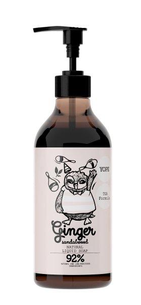 YOPE Natural Liquid Soap with TGA Ginger & Sandalwood, Flüssigseife 500ml