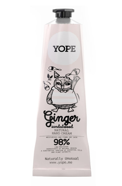 YOPE Natural Hand Cream Ginger & Sandalwood, Handcreme Ingwer & Sandelholz 100ml
