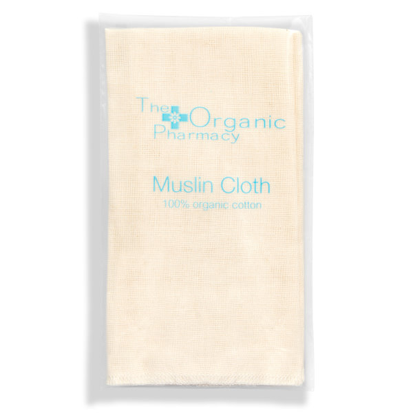 The Organic Pharmacy Organic Muslin Cloth, Musseline Reinigungstuch, 100% Bio-Baumwolle