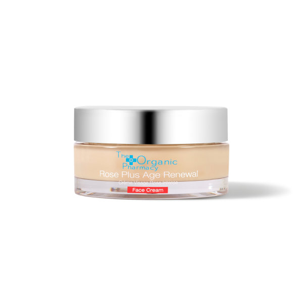 The Organic Pharmacy Rose Plus Age Renewal Face Cream, Anti-Ageing Tagespflege 50ml