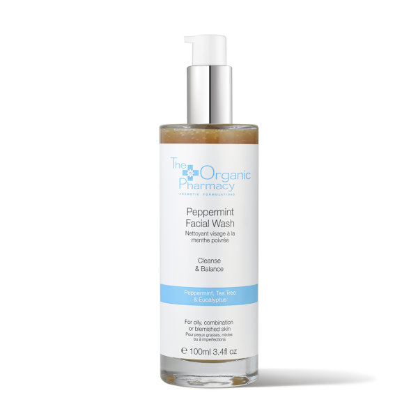The Organic Pharmacy Peppermint Face Wash, Gesichtsreinigung Gel 100ml