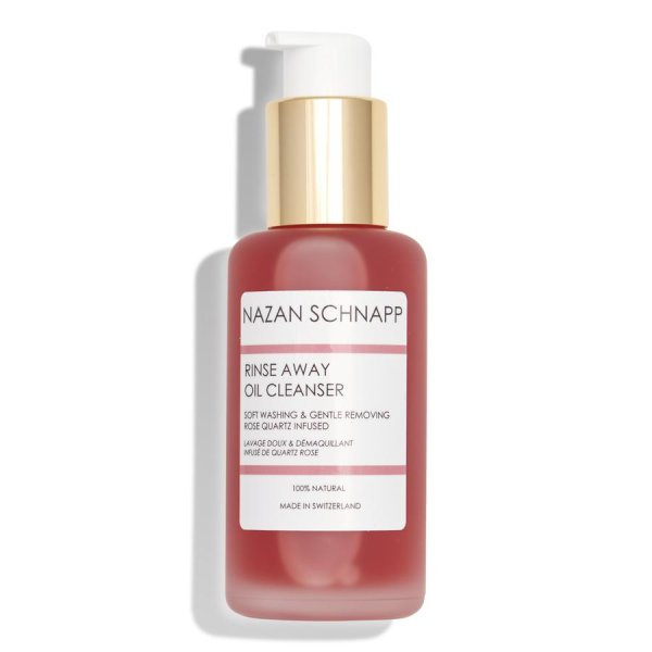 NAZAN SCHNAPP Rinse Away Oil Cleanser gentle removing & soft washing rose quartz infused, Gesichtsreinigungsöl 100ml