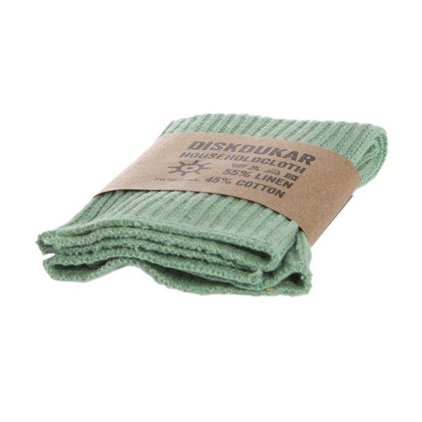 Iris Hantverk Household Cloth Frosty Green Linen/Cotton, Spültuch Hellgrün 1 Stück