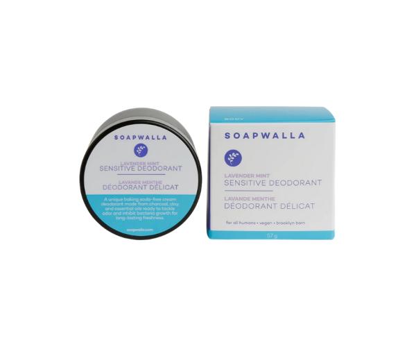 Soapwalla Cream Deodorant LAVENDER-MINT SENSITIVE, Cremedeo 57g