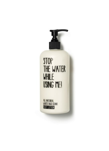 stop the water while using me All Natural White Sage Cedar Body Lotion, Körperlotion 500ml