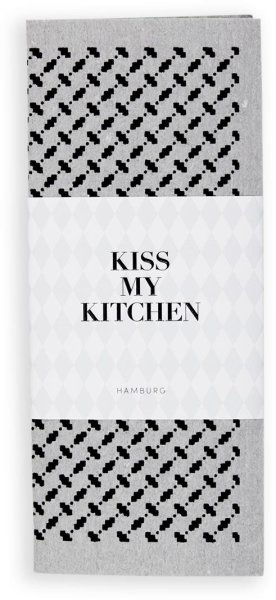 Kiss My Kitchen Household Cloth Pali Pur Grey/Black, Schwammtuch 1 Stück