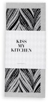 Kiss My Kitchen Household Cloth Feather Grey/Black,...
