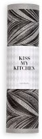 Kiss My Kitchen Household Cloth Roll Feather Grey/Black,...