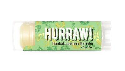 Hurraw! Baobab Banana Lip Balm, Lippenpflegestift Baobab Banane 4,3g