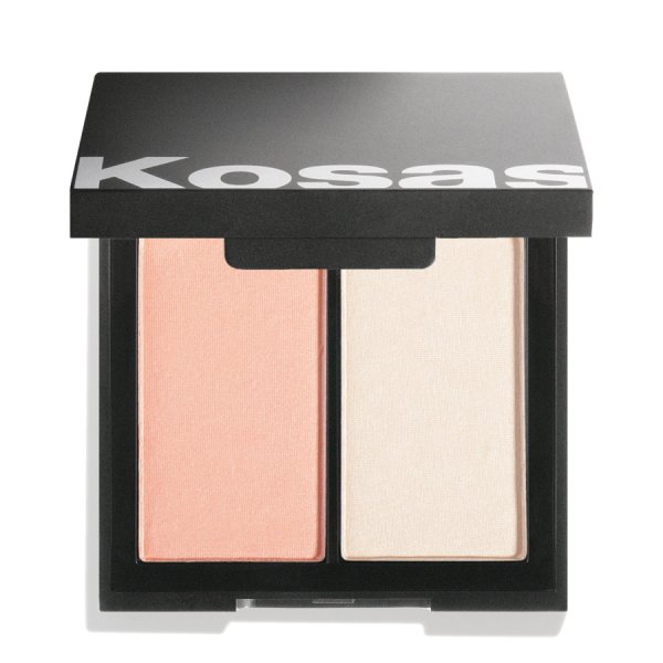 kosås color & light pressed blush and highlighter PAPAYA 1972, Puder Rouge & Highlighter-Duo 8g